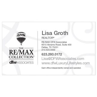 DFW White Business Card Option 2 - Front